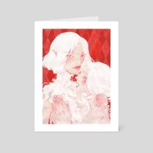 Girls - Art Card by Ira Weber