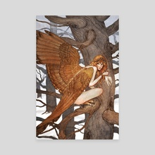 Harpy - Canvas by Erin Kelso