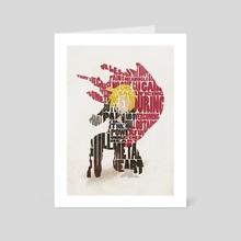The Little Red Runt - Art Card by Deniz Akerman