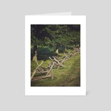 Country Fence - Art Card by Ashley Gedz