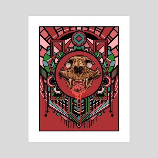 Deco Skull by Scott Buon