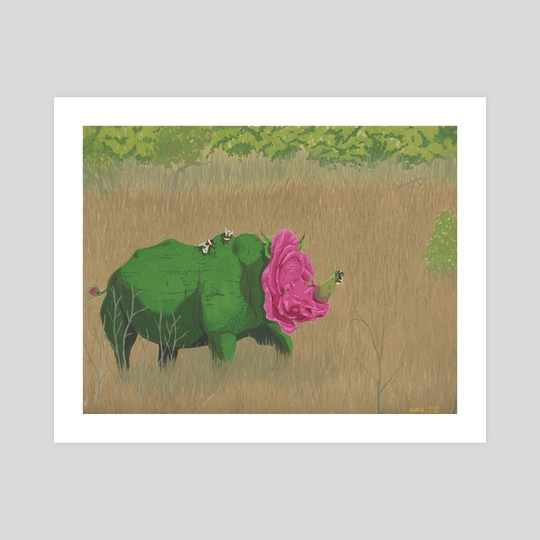 Peaceful Rhinocerose by Ashley Hills