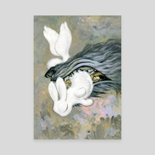 white rabbit - Canvas by yukari masuike