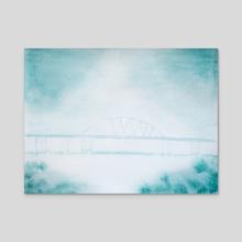 Han River Bridge - Acrylic by Joana Lourenço