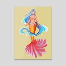 Mermaid - Acrylic by Castonia