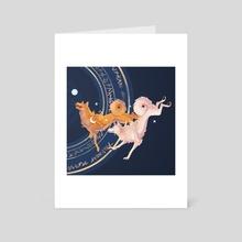 Bul-Gae - Art Card by  Linda Qin