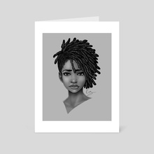 Locs Styled - Art Card by Shakira Rivers