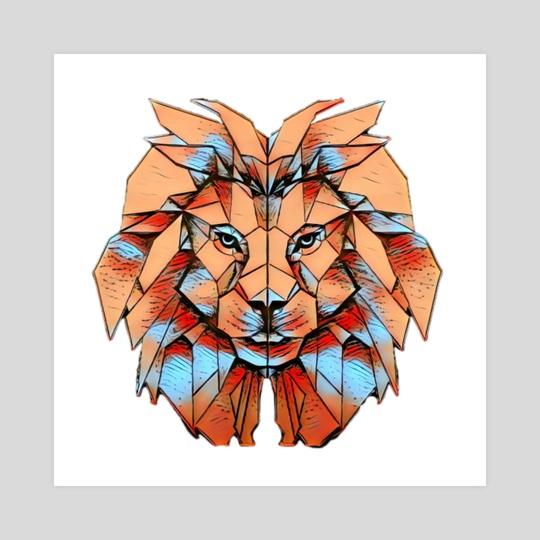 Lion art 2 by Sukhendu Mondal