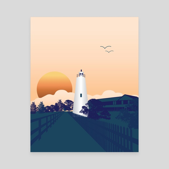 Ocracoke Lighthouse  by erin moore