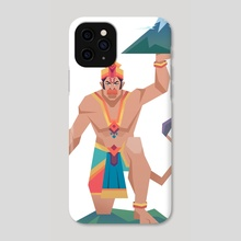 Monkey King - Phone Case by Shehzad  Kapadia