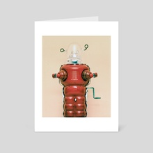 red robot  - Art Card by Charles Taylor
