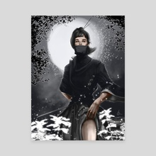 Ninja woman - Canvas by Efrain Sosa