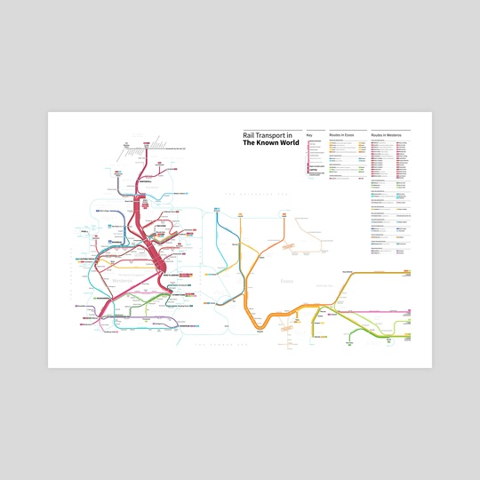 The Known World Transit Map by Michael Tyznik