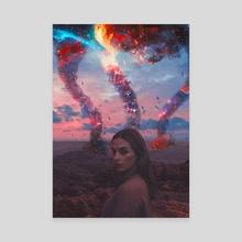 Space Storm - Canvas by Marischa Becker