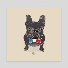 French BullDog - Canvas by LeftHandedGraphic