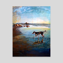 Beach Dog - Canvas by birds