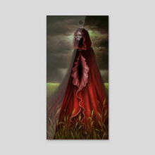 The Scarlet Mother - Acrylic by Caroline Jamhour