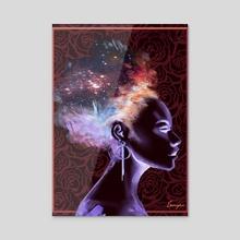IN YOU - Self - Acrylic by Anthony  Ebengho