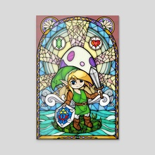 Link's Awakening Stained Glass - Acrylic by Charity Santiago