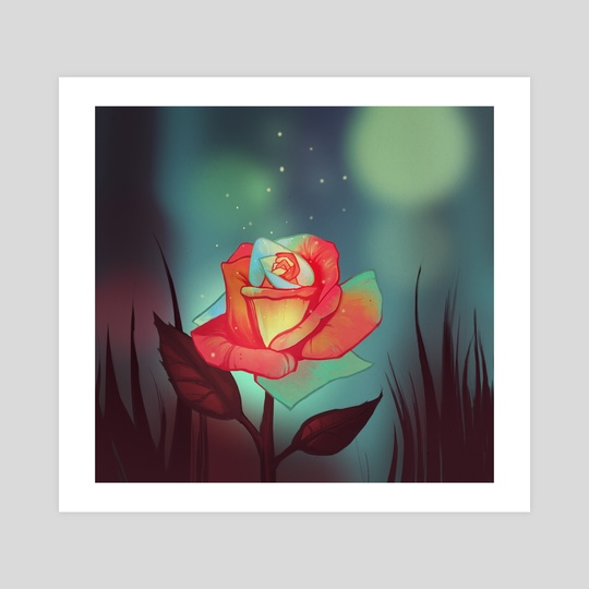 Night rose by FoxbergART Foxberg