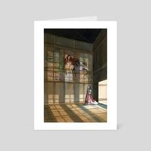 The Four Whispers - Art Card by allison j. sebastian