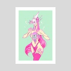 Cancer Angel - Art Print by Audra Auclair