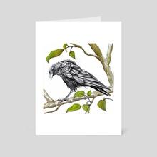 Crow - Art Card by ROSITSA GARDJELIYSKA