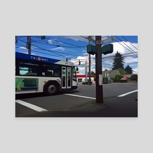 SE 72nd and Harold - SE Portland, Oregon - Canvas by Jason Pedegana