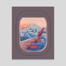 Wanderlust - Canvas by Flora Kirk