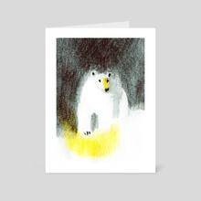 Polar Bear - Art Card by Linette No