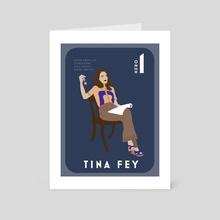 Tina Fey  - Art Card by Zoe Tischner