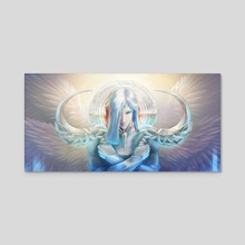 The Archangel Uriel - Acrylic by Sonia Wisniewska