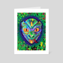 Reptiloid - Art Card by Vitali Pikalevsky