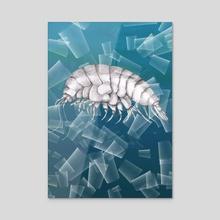 Eurythenes plasticus - Acrylic by Bianca Wisseloo