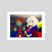 MM and SG Selfie - Art Card by Xander Stroud
