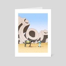 Hurry Up! - Art Card by Dániel Taylor