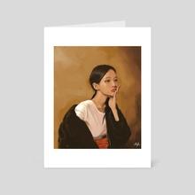 Digital Painting woman - Art Card by Neil Padaloy