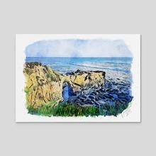 Natural Bridges in Santa Cruz - Mixed Media - Acrylic by Dreamframer Art