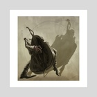 Double bass player - Art Print by Evgeni Hristov