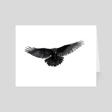 Flying Raven - Art Card by Natalia Pleshkova