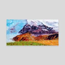 Mount Eiger 01 - Canvas by Anna Marie Church