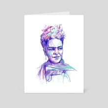 Frida - Art Card by Chillstudio Katarzyna Rzedzian