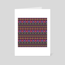 Ethnic pattern 77 - Art Card by Luiza Kozich