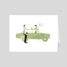 the taxi driver - Art Card by DG Lee