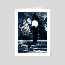 Whales and sails - Art Card by Michal Eyal