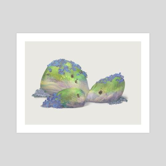 mossy pebbles #2 by Mona Shin