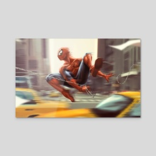Spider-man - Acrylic by Tom Velez