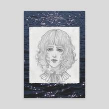 Illustration of a lady - Canvas by unsureamen