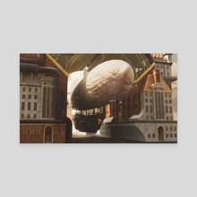 Flying Machine barrack - Canvas by Danel Iriarte