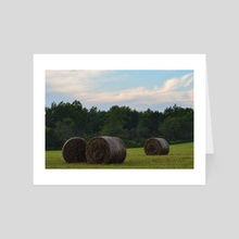 Round Bales II - Art Card by Ashley Gedz
